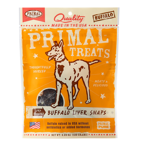 Primal Treats Dry Roasted Buffalo Liver Snaps