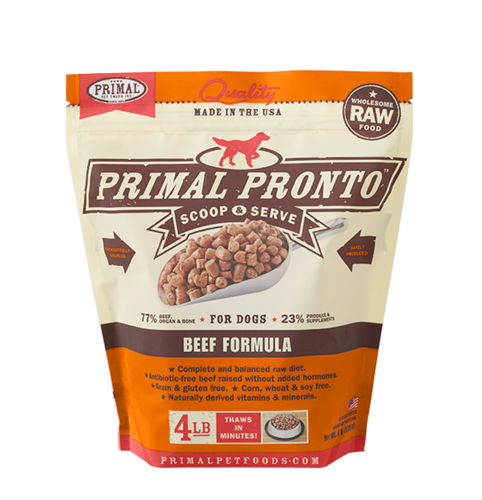 Primal Pronto Raw Frozen Canine Beef Formula
