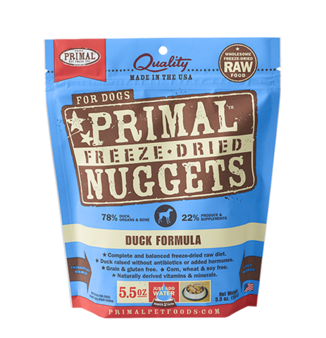 Primal Nuggets Canine Duck Freeze-Dried Formula