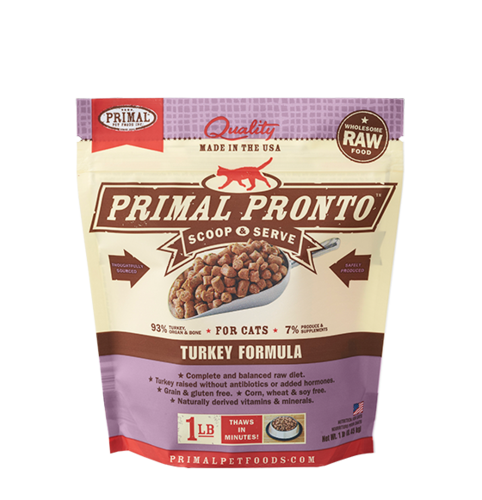 Primal Pronto Raw Frozen Feline Turkey Formula