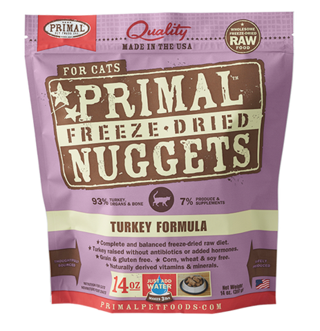 Primal Nuggets Raw Freeze-Dried Feline Turkey Formula