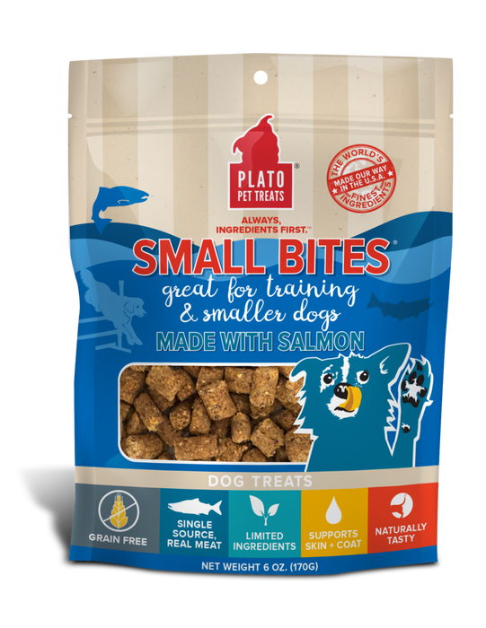 Small Bites Salmon Meaty Morsel Dog Treats - 6oz.