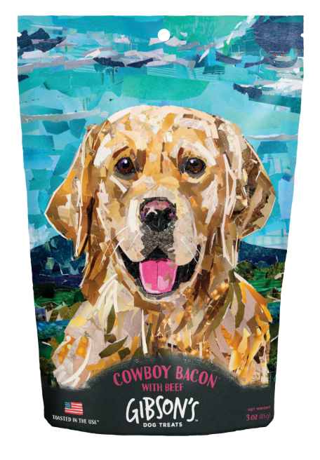 Wild Meadow Farms Gibson's Cowboy Bacon with Beef Toasted Jerky Dog Treats