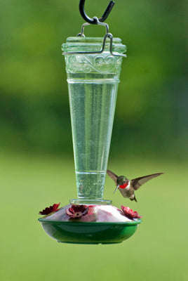 Tourchiere Glass Hummingbird Feeder