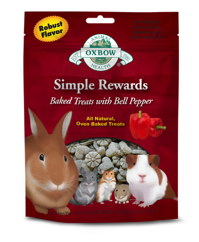 Oxbow Simple Rewards Baked Treats With Bell Pepper