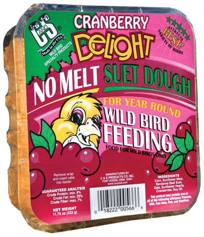Cranberry Delight Wild Bird No Melt Suet Dough