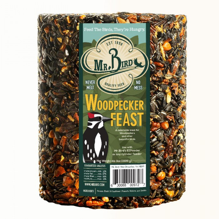 Mr. Bird Woodpecker Feast Seed Cylinder