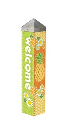 "Studio M Pineapple Welcome 20"" Art Pole"