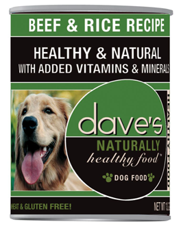 Dave's Naturally Healthy™ Beef and Rice Canned Dog Food