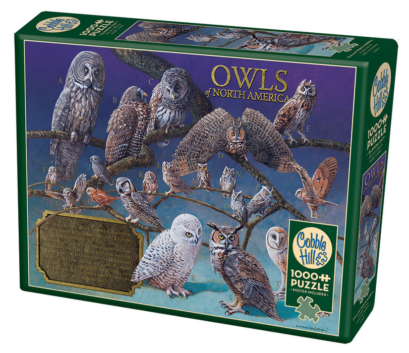 OWLS OF NORTH AMERICA 1,000 PIECE PUZZLE
