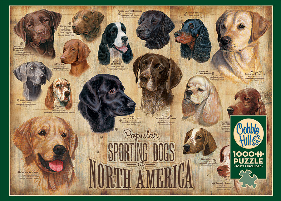 SPORTING DOGS 1,000 PIECE PUZZLE