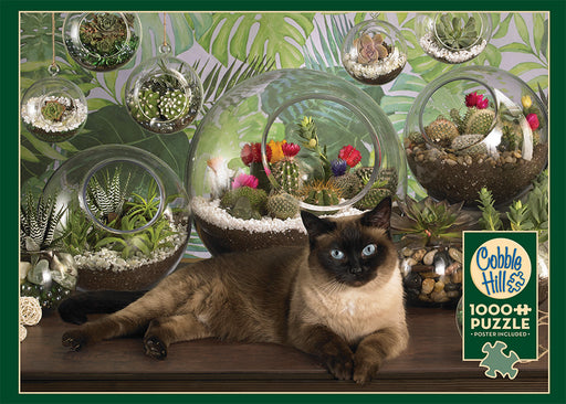 TERRARIUM CAT 1,000 PIECE PUZZLE