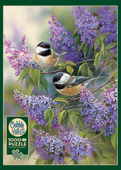 CHICKADEES AND LILACS 1,000 PIECE PUZZLE