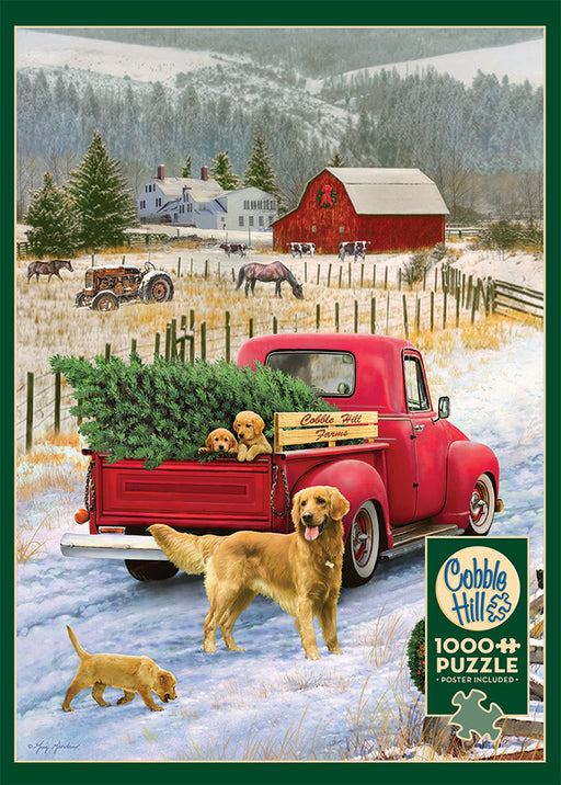 CHRISTMAS ON THE FARM 1,000 PIECE PUZZLE