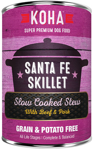 KOHA Santa Fe Skillet: Beef & Pork Stew Dog Food