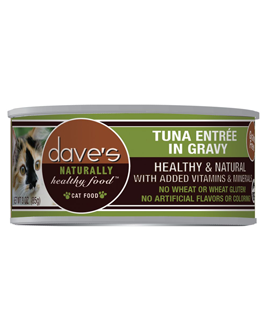 Dave's Naturally Healthy™ Grain Free Canned Cat Food Tuna Entrée in Gravy