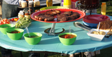 trivae, pizza stand, cake stand, serving stand, display stand, server, outdoor entertainment, grilling, BBQ, barbecue, outdoor cooking, outdoor entertaining