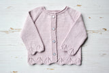 Cotton Baby Cardigan - Rose Lace
