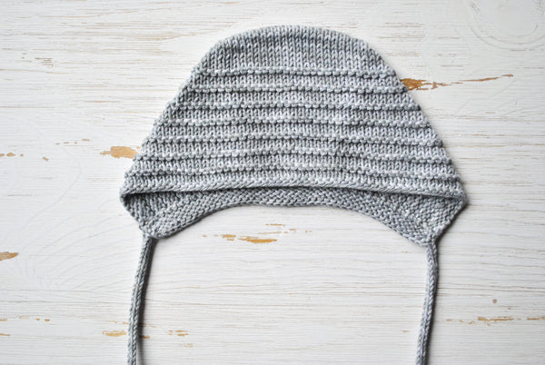 Cotton Baby Bonnet - Grey Jean