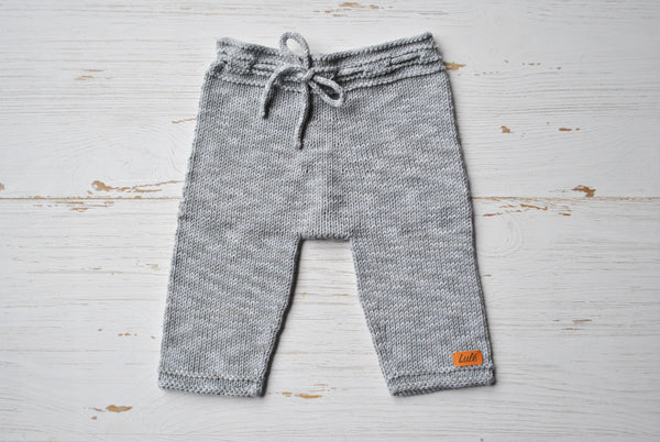 Cotton Baby Pants - Grey Jean