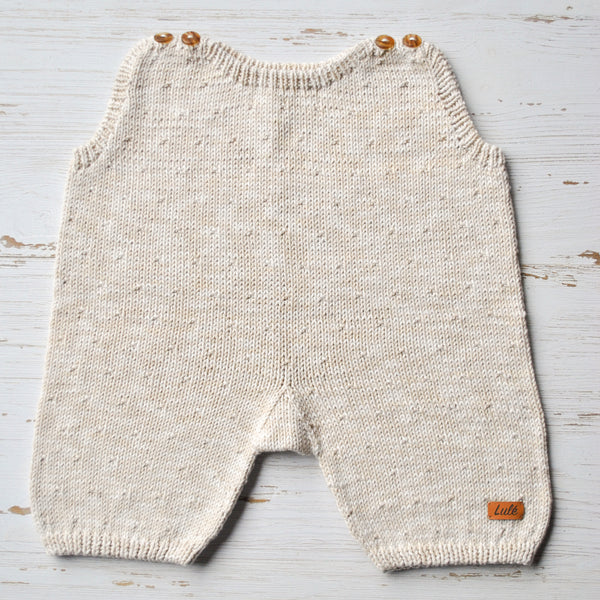Cotton Baby Romper - White Jean