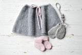 Ballerina Baby Skirt - Grey with Rose Belt