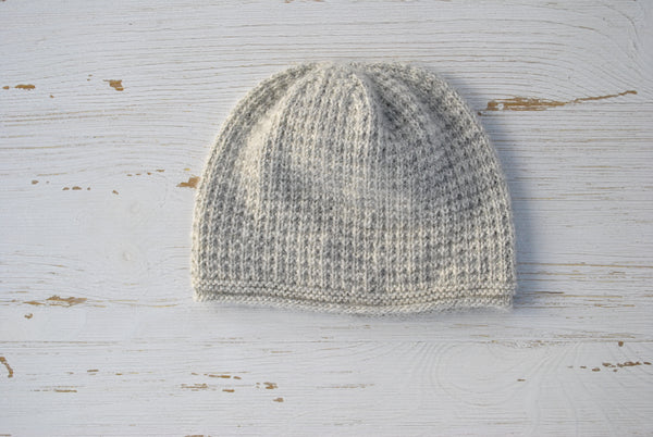 Wool & Alpaca Baby Beanie - Light Grey