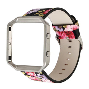 Floral Passion Leather Band - Fitbit Blaze
