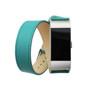 Double Tour Leather Band - Fitbit Charge 2