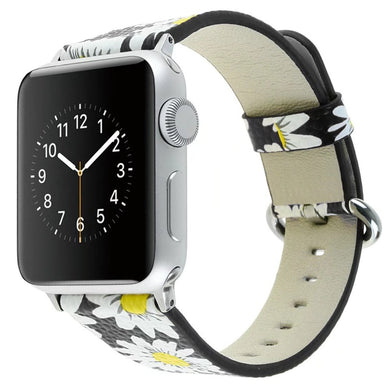 Daisy Leather Band - Apple Watch