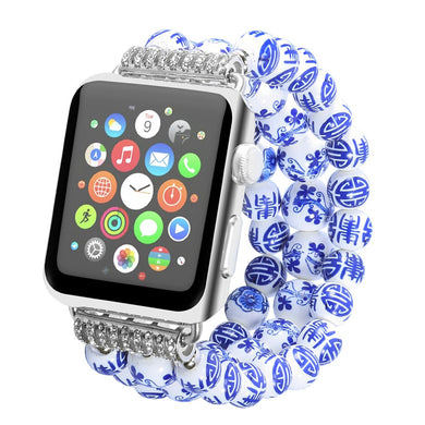Beaded Ceramic Stretch Band - Apple Watch