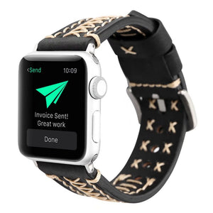 Criss Cross Leather Band - Apple Watch
