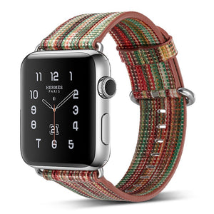 Jazzy Stripes Leather Band - Apple Watch