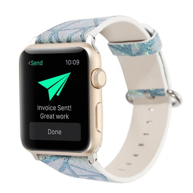 Glitter Tracks Leather Band - Apple Watch
