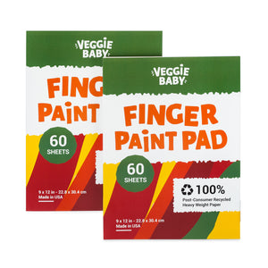 Veggie Baby Art Paper Pad 2-Pack for Finger Painting, Drawing and Coloring, 60 Sheets