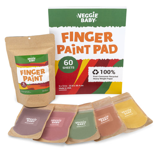 Art Pack 1:  Veggie Baby Finger Paint + Art Pad