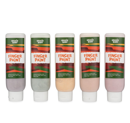 Veggie Baby Original Natural Finger Paint Five Piece 'Tottle Set'
