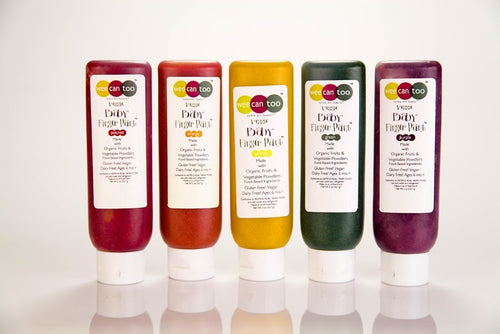 Wee Can Too Original Natural Finger Paint Five Piece 'Tottle Set'
