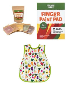 Art Pack 2:  Veggie Baby Finger Paint + Art Pad + Art Smock