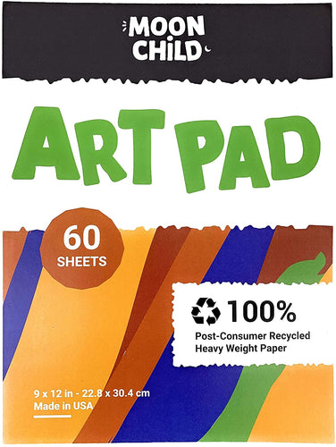 Moon Child Art Pad for Painting, Drawing and Coloring, 60 Sheets