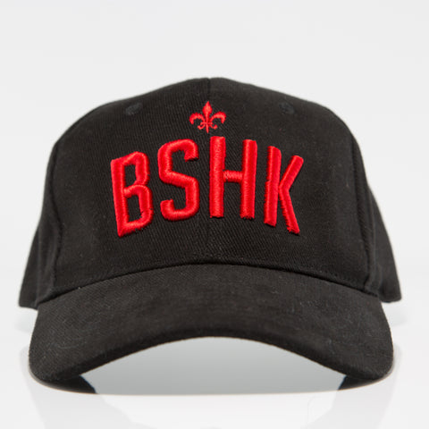 BSHK Baseball Cap - Black/Red