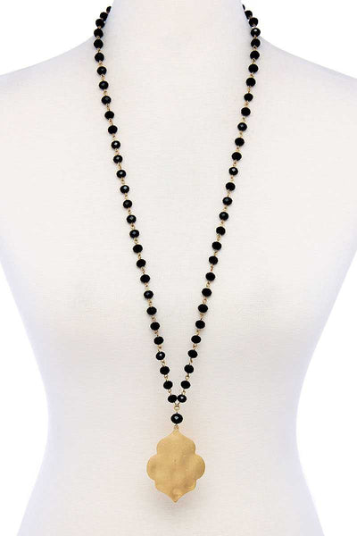 Designer Multi Bead Pendant Necklace
