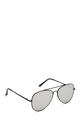 Trendy Black Framed Aviator Sunglasses