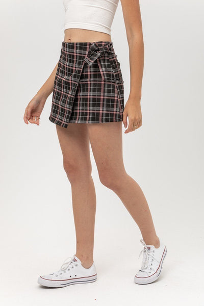 Knit Yarn Dye Plaid Skirt