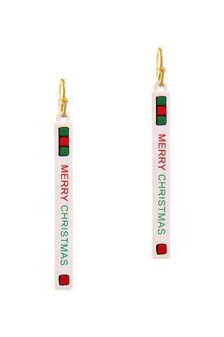 Trendy Merry Christmas Strap Design Earring