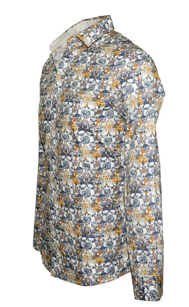 Floral Fashion Shirt For Men by Rock Roll n Soul-3
