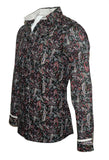 Men's Long Sleeve Button up Rock and Roll Fashion Paisley Shirt side