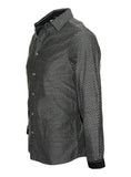 Men's Long Sleeve Button up Rock and Roll Black Fashion Shirt Ching-a-Ling side