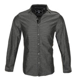 Men's Long Sleeve Button up Rock and Roll Black Fashion Shirt Ching-a-Ling