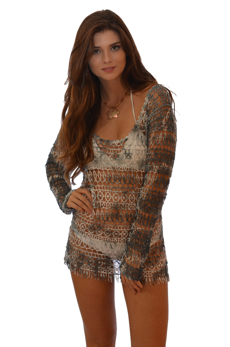 Koan 810 — Floral Lace Cover up